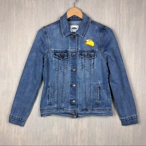Old Navy taco patch denim jacket S
